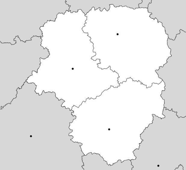 Carte vierge du Limousin