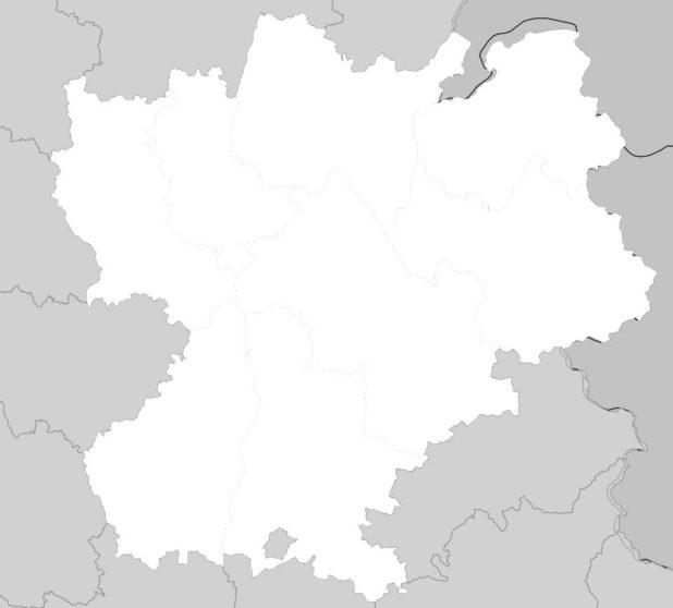 Carte vierge Rhône-Alpes