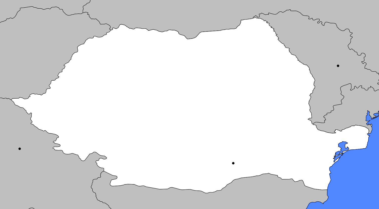 Carte vierge de la Roumanie