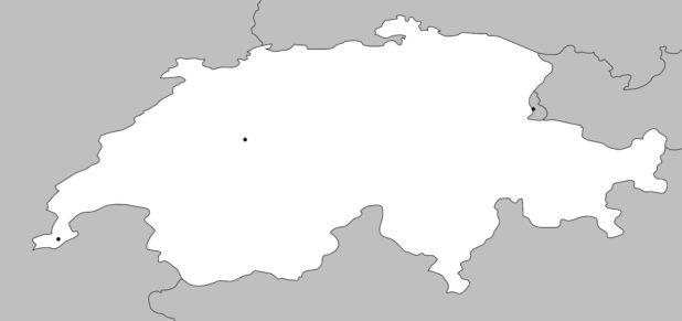Carte vierge de la Suisse
