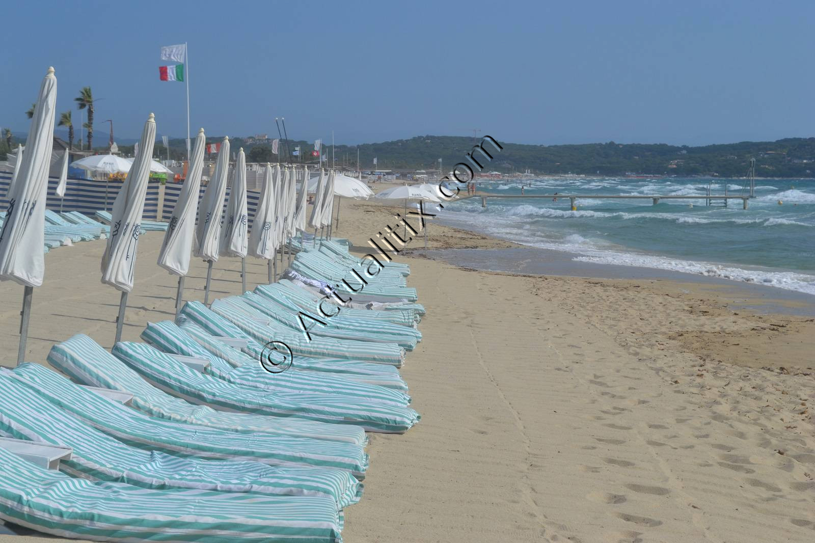 Club privé sur la plage de Pampelonne