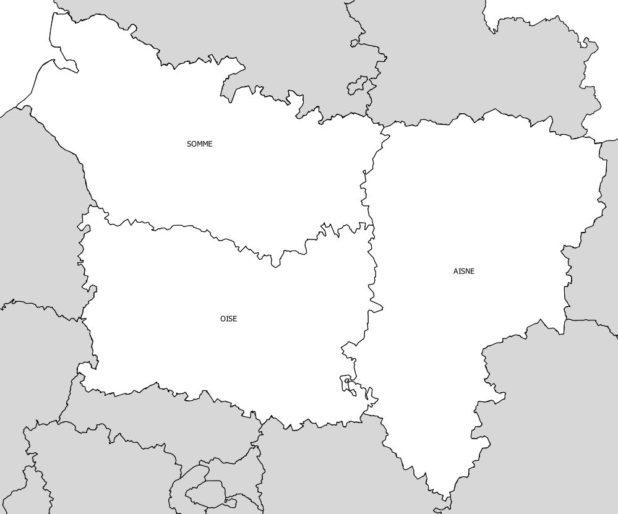 Départements de la région Picardie