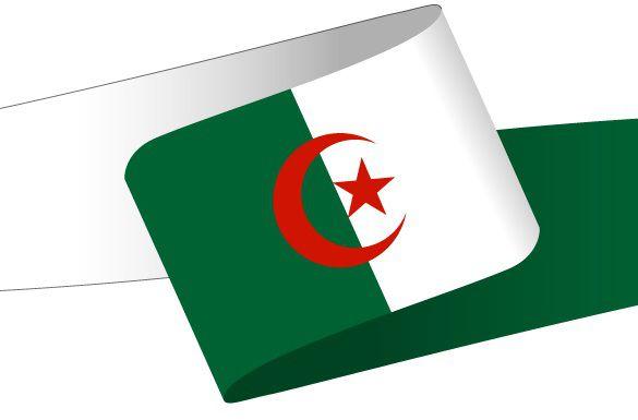 Drapeau en forme de bandeau de l'Algérie