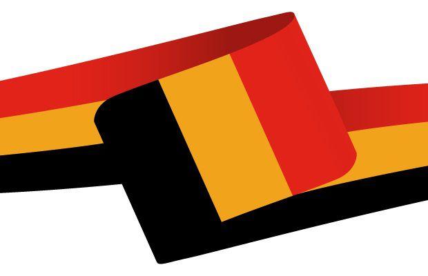 Drapeau en forme de bandeau de la Belgique