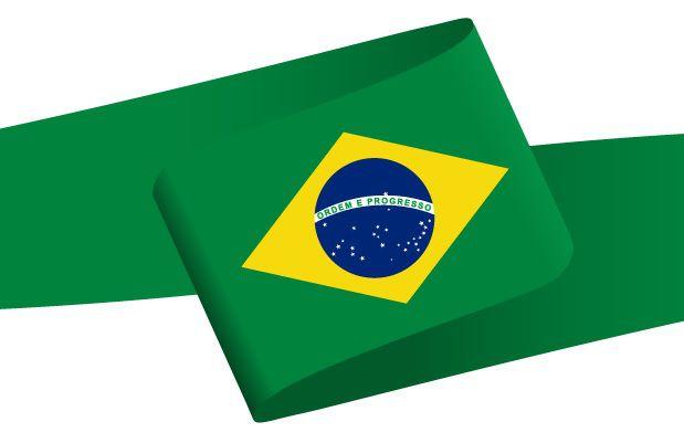 Drapeau en forme de bandeau du Brésil