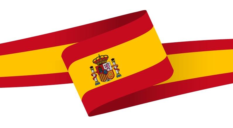 Drapeau en forme de bandeau de l'Espagne