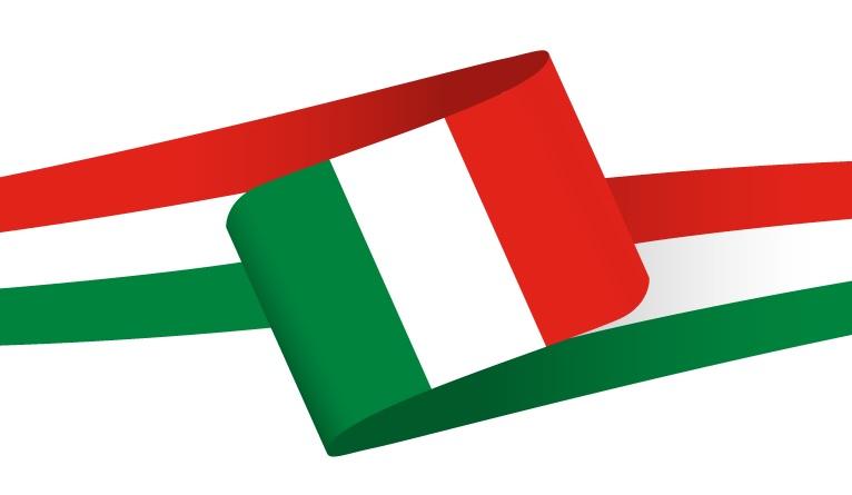 Drapeau en forme de bandeau de l'Italie