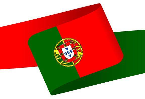 Drapeau en forme de bandeau du Portugal
