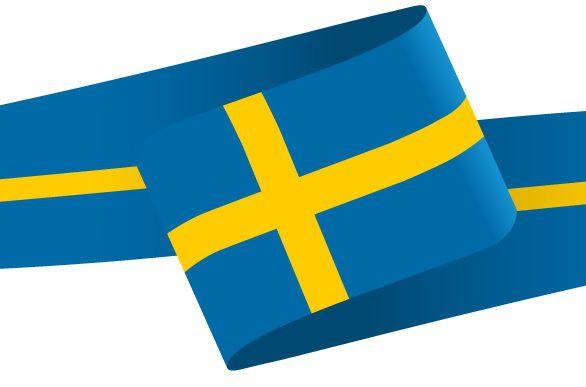 Drapeau en forme de bandeau de la Suède