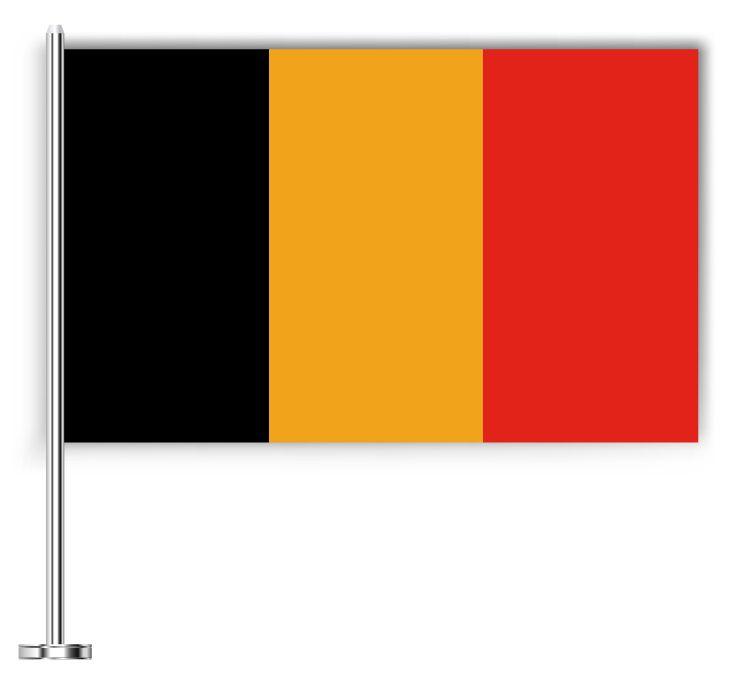 Drapeau joli de la Belgique