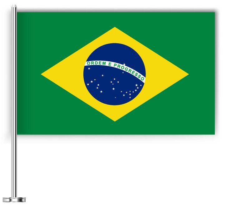 Drapeau joli du Brésil