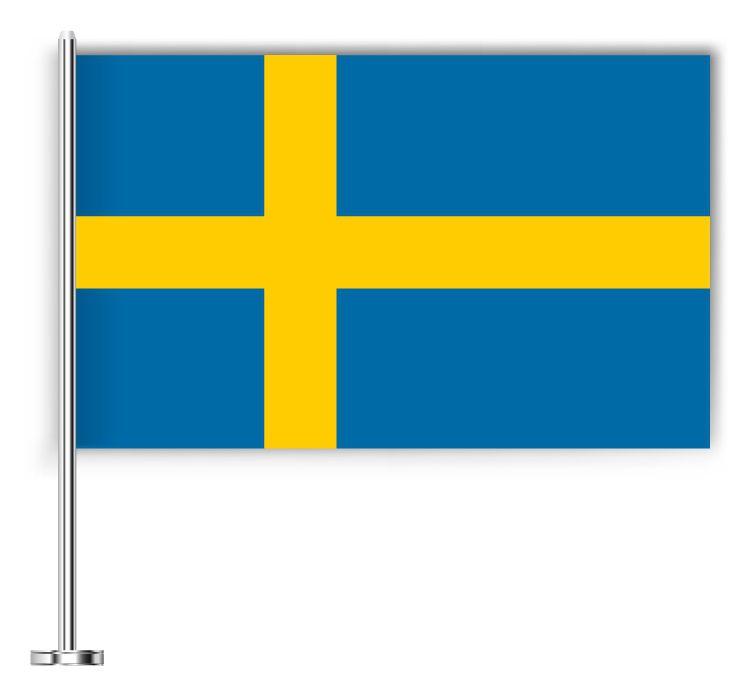 Drapeau joli de la Suède