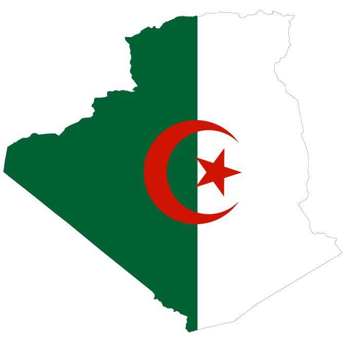 Drapeau de l'Algérie en forme de pays