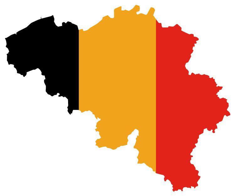 Drapeau de la Belgique en forme de pays