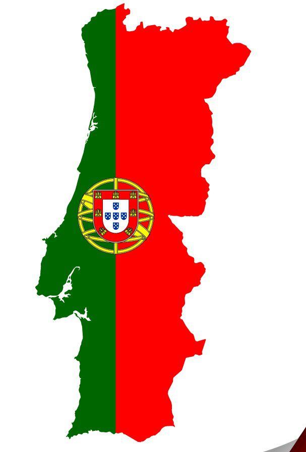 Drapeau du Portugal en forme de pays