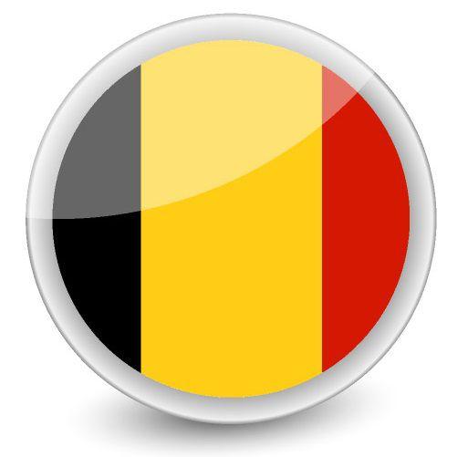 Drapeau rond de la Belgique