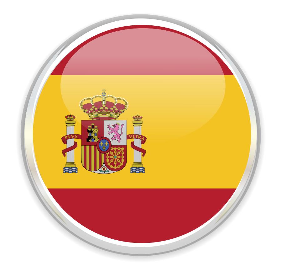 Drapeau rond de l'Espagne