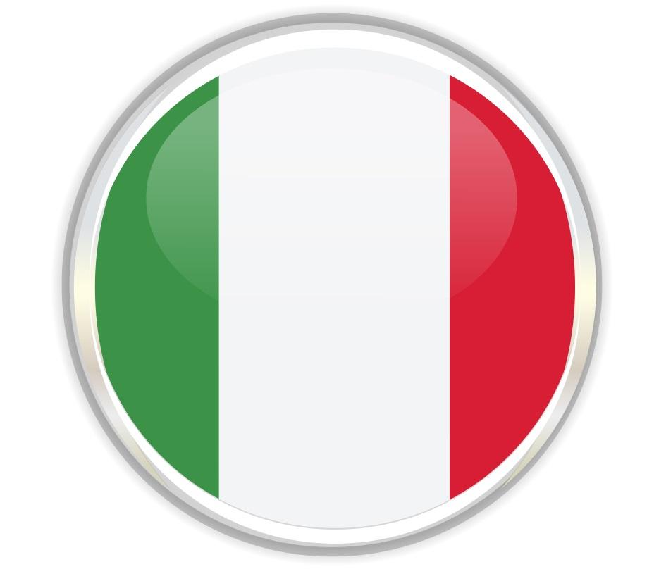 Drapeau rond de l'Italie
