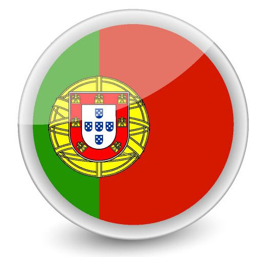 Drapeau rond du Portugal