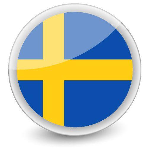 Drapeau rond de la Suède