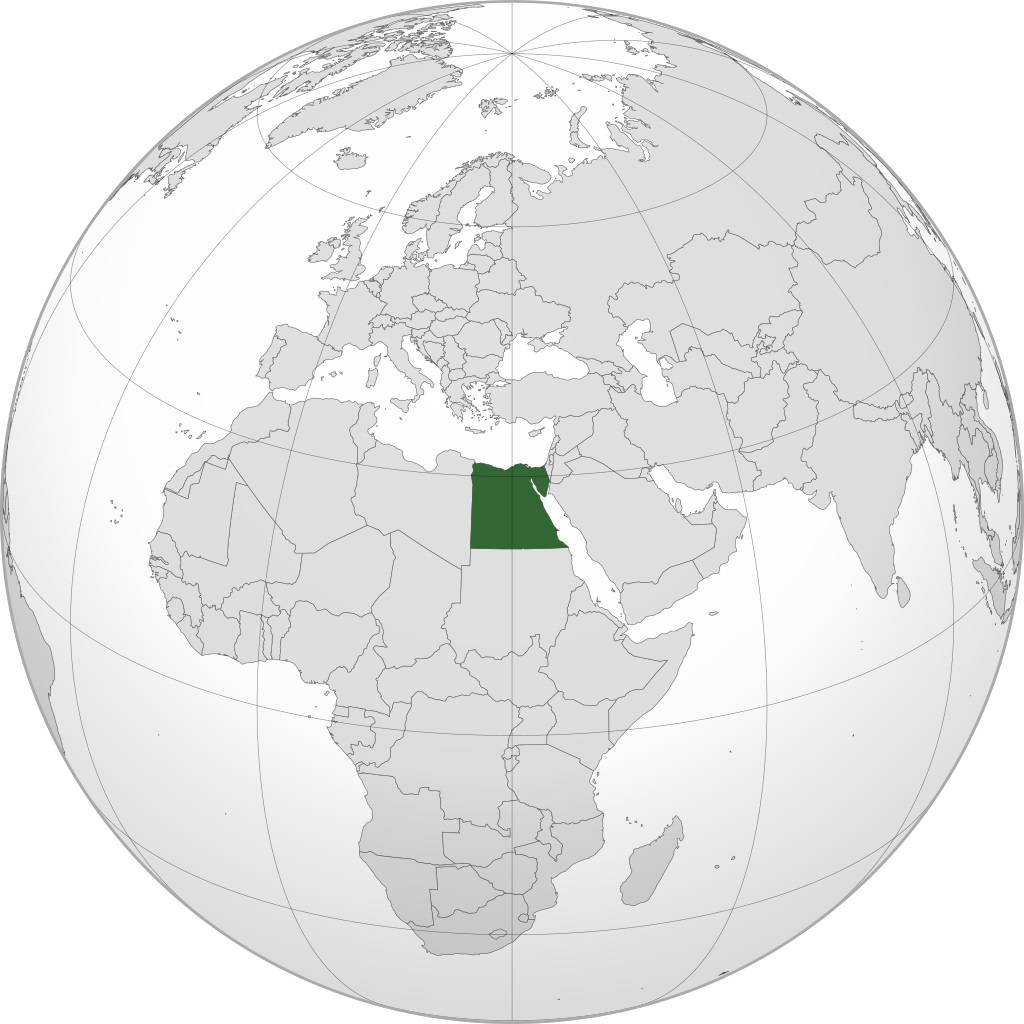 Egypte sur une carte de l'Afrique