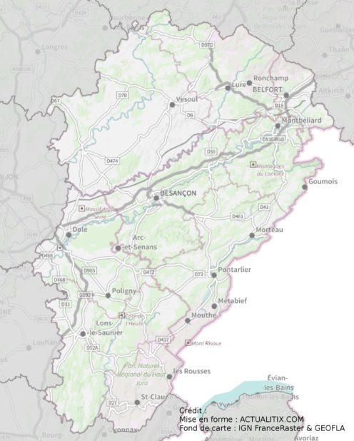 Franche-Comté carte