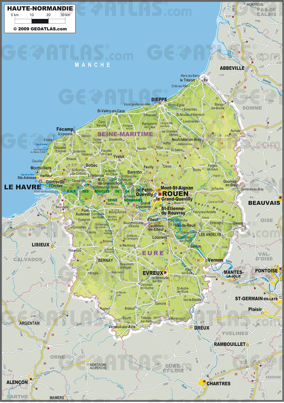Haute-Normandie carte