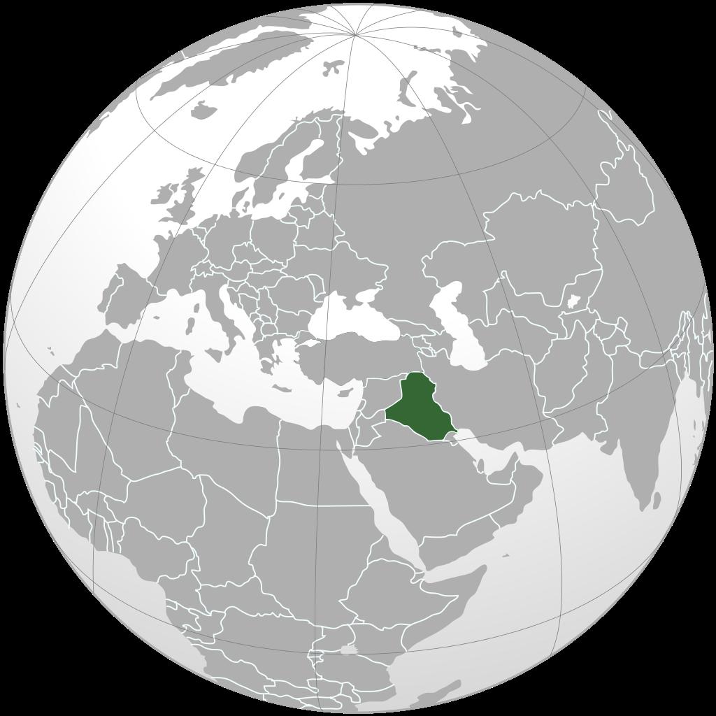 Irak sur une carte de l'Asie