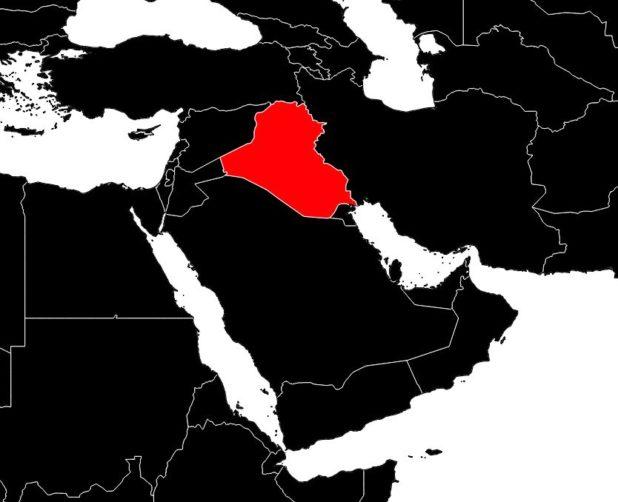 Irak sur une carte du Moyen-Orient