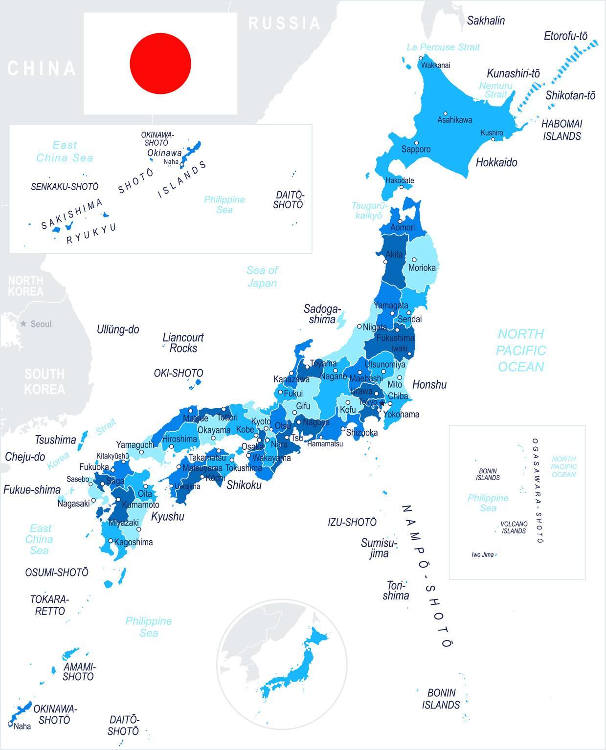 carte japon plan geographie