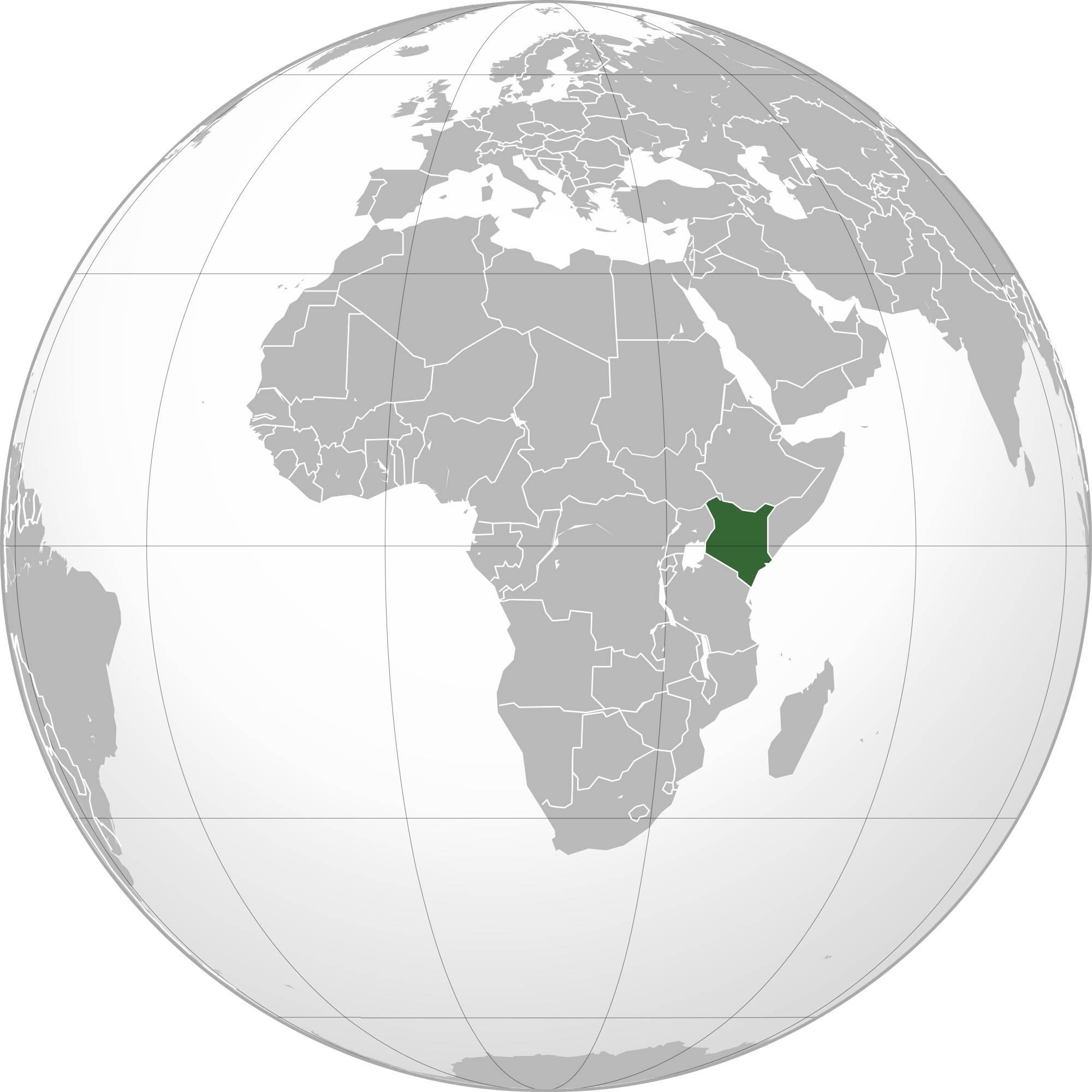 Kenya carte de l'Afrique