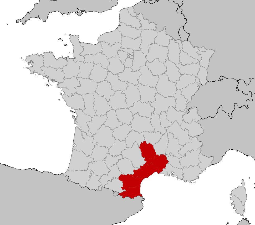 Languedoc roussillon carte