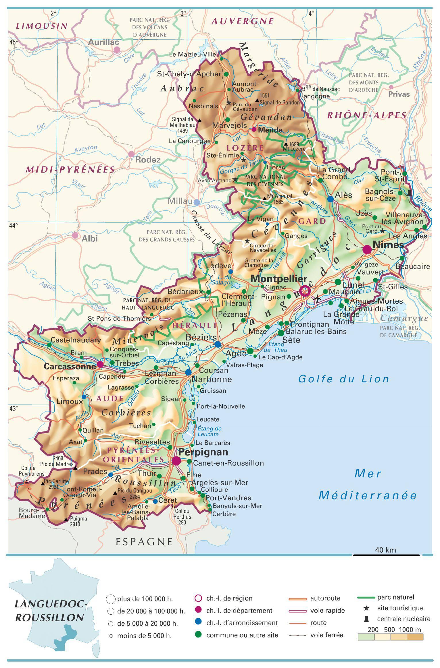 Languedoc-Roussillon carte