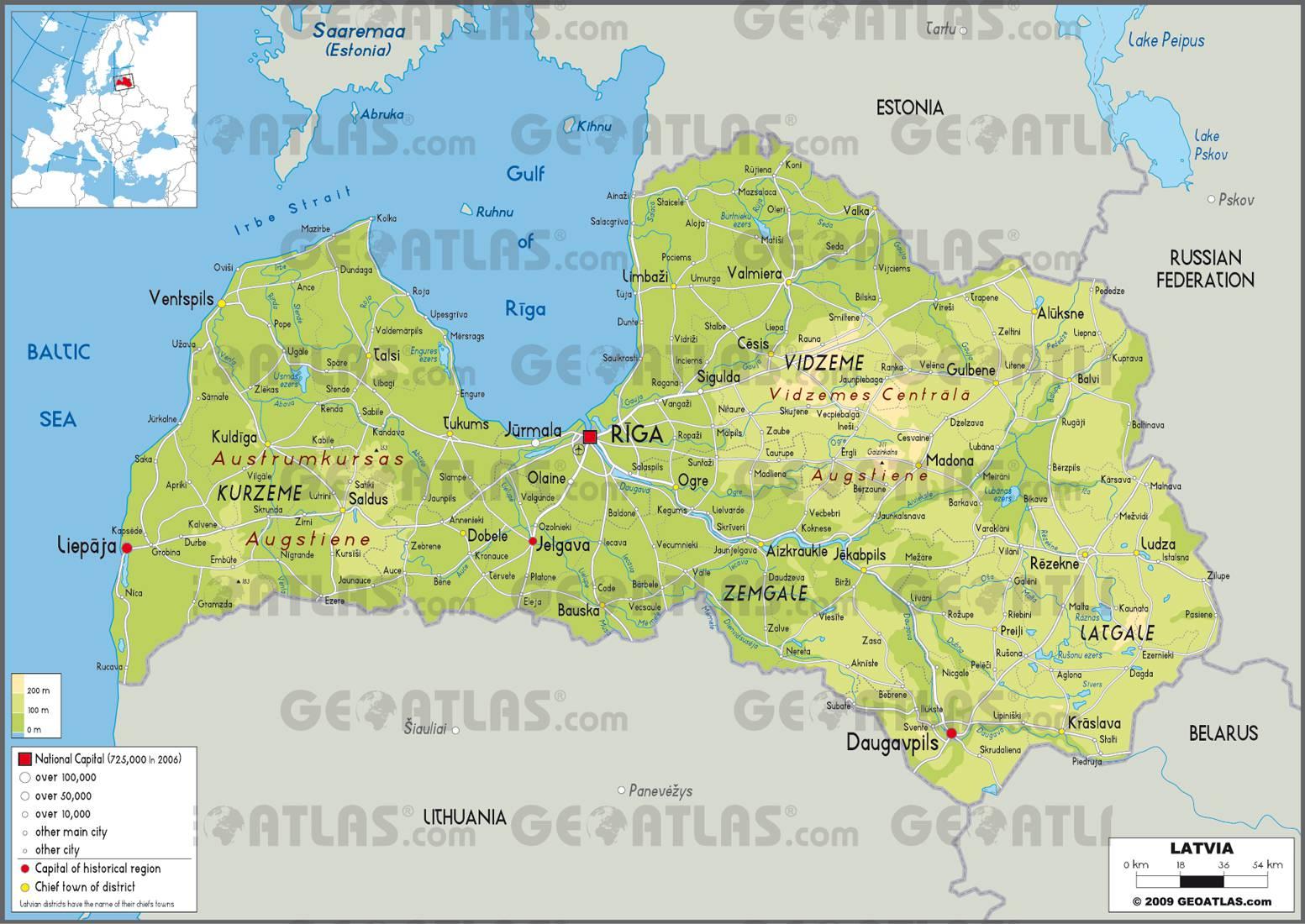 Lettonie carte