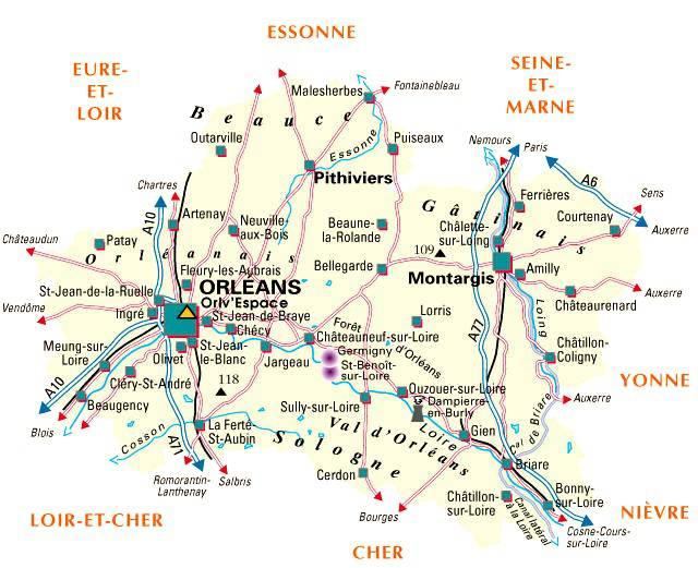 Loiret carte