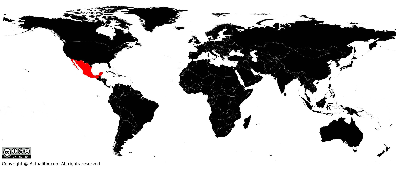 Ou Se Trouve Le Mexique Sur La Carte Du Monde | popkensburg