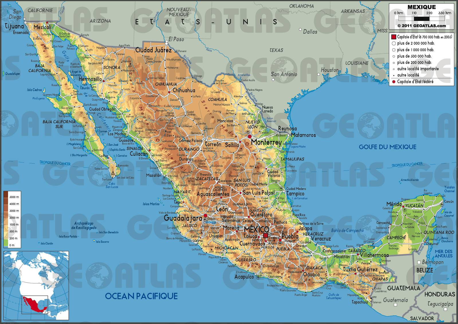 Mexique carte