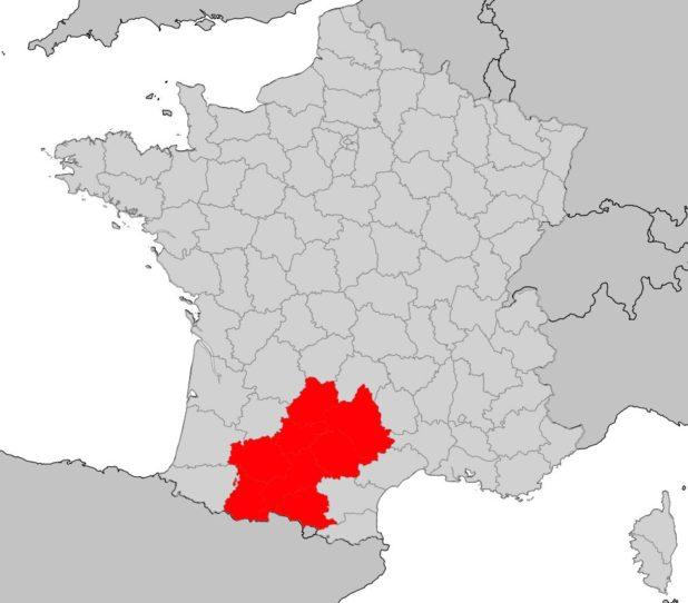 Midi-Pyrénées carte de France