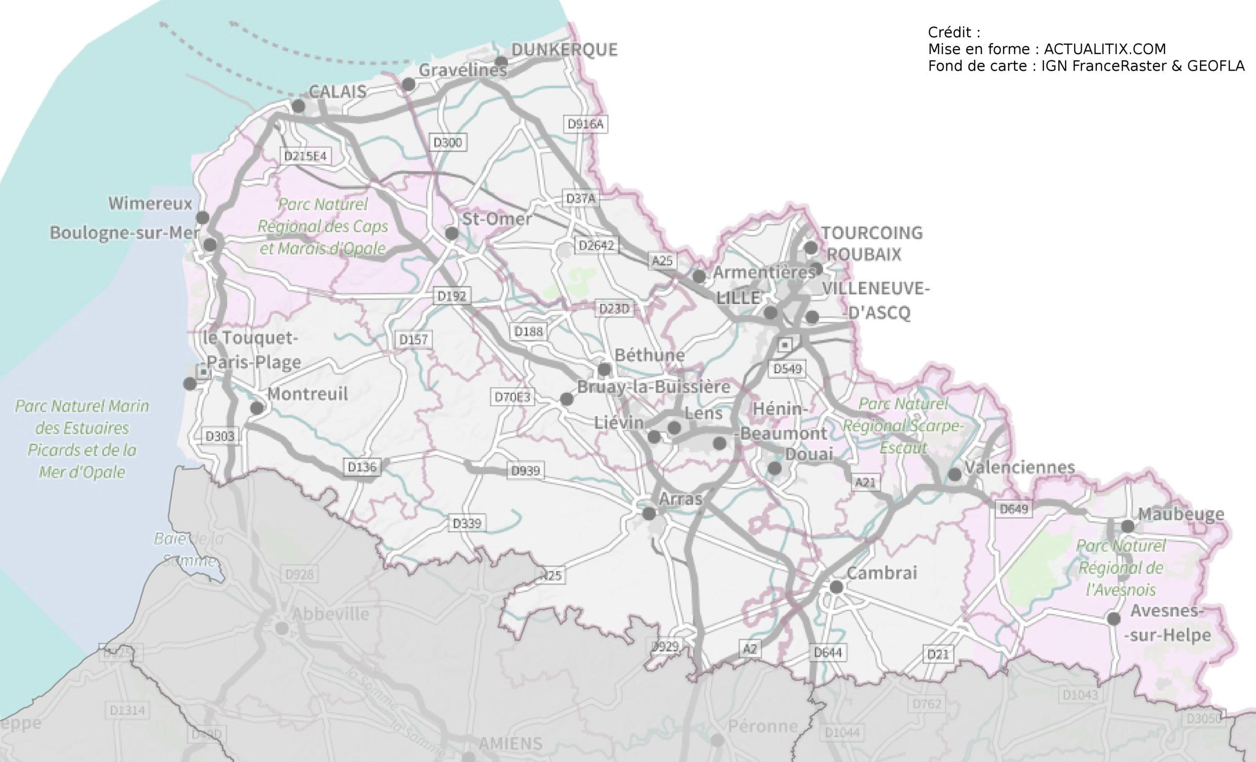 carte du nord pas de calais