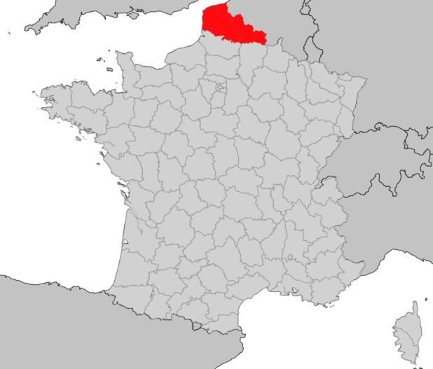 Nord-Pas-de-Calais sur une carte de France