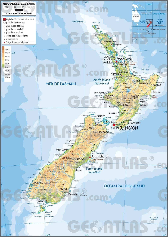 Nouvelle-Zélande carte