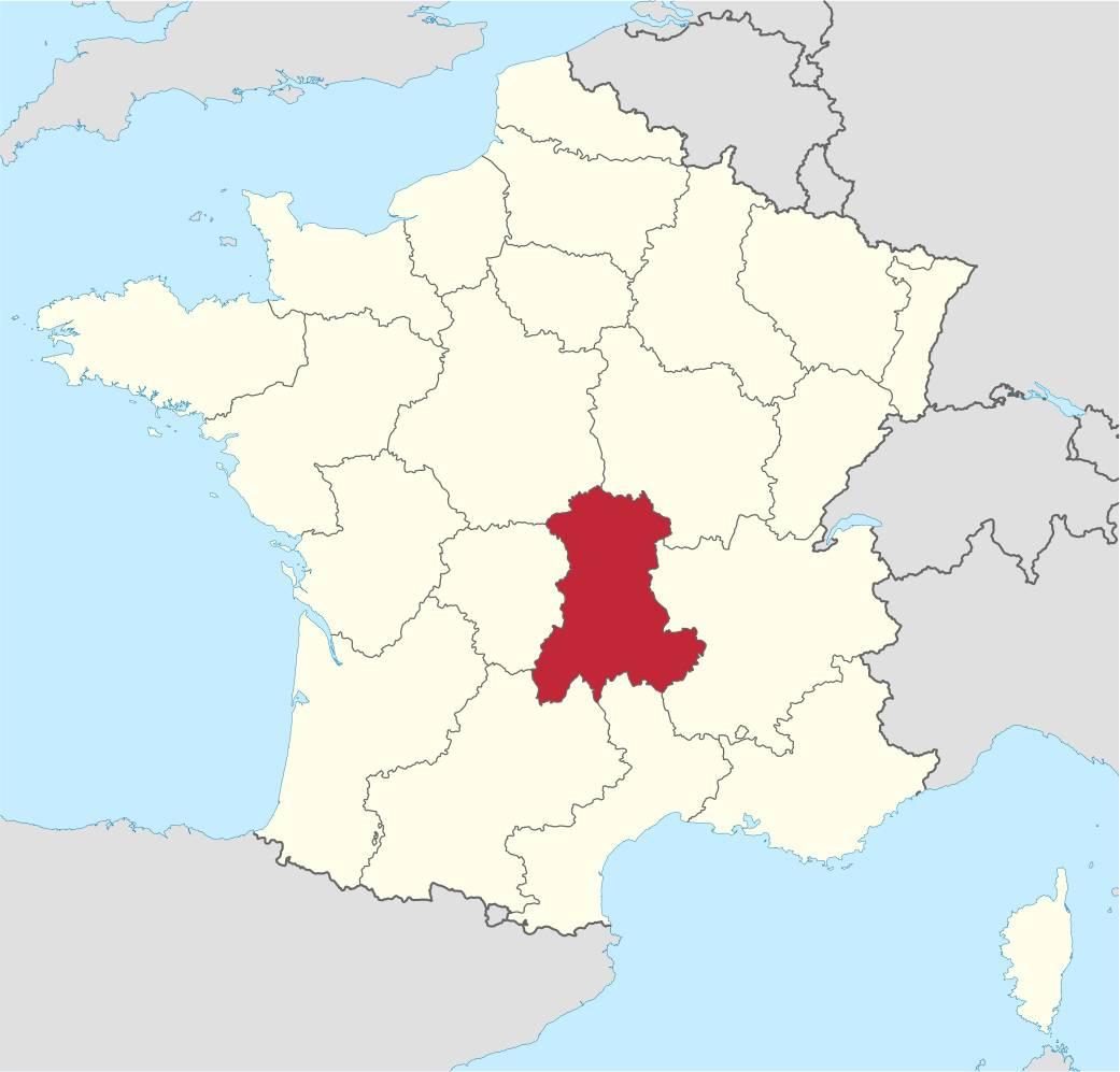 Où se trouve la région de l'Auvergne ?