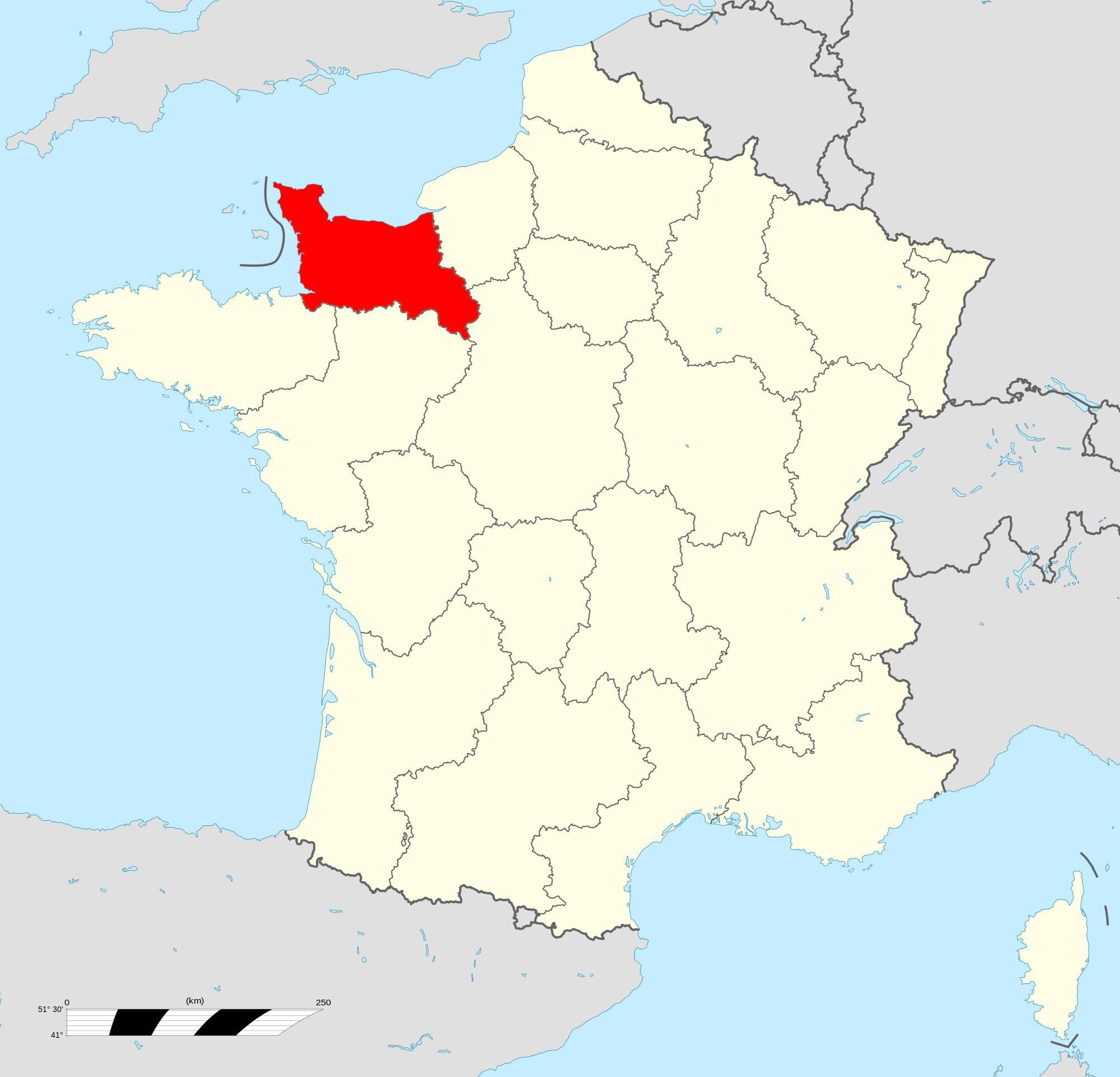 Où se trouve la Basse-Normandie