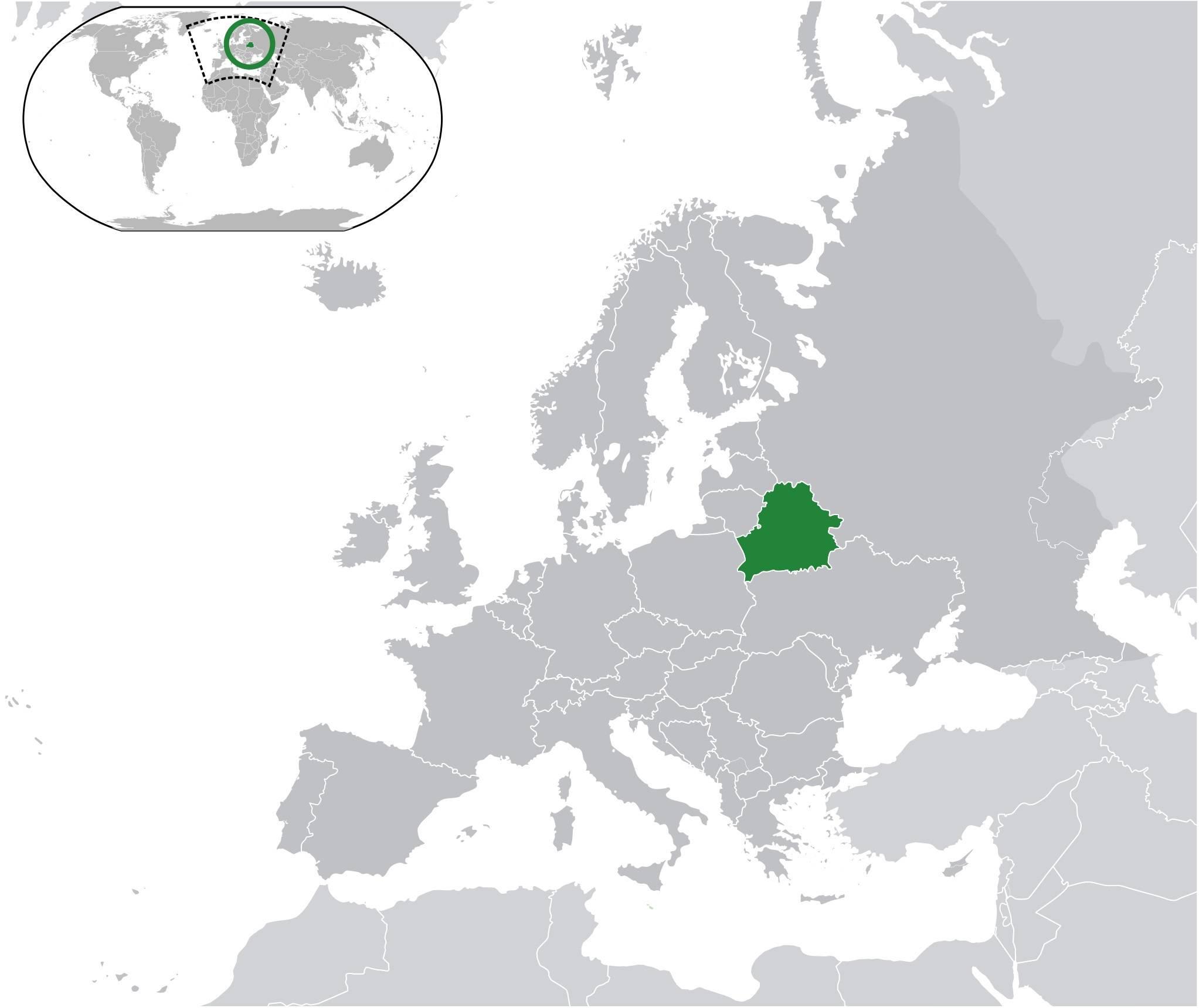 Où se trouve la Biélorussie sur une carte de l'Europe ?