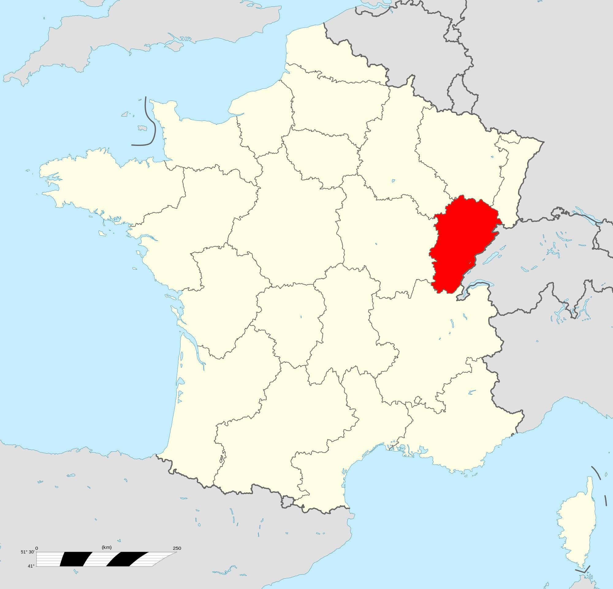 Où se trouve la région Franche-Comté ?