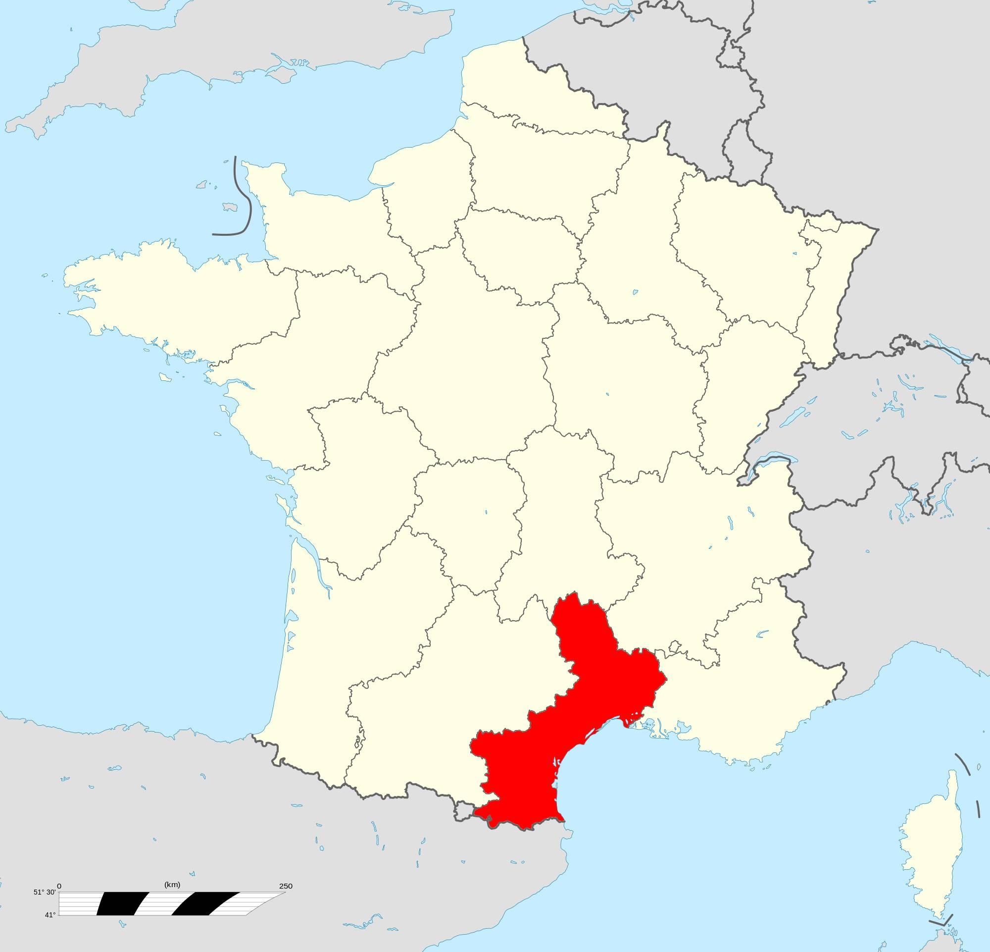Où se trouve le Languedoc-Roussillon