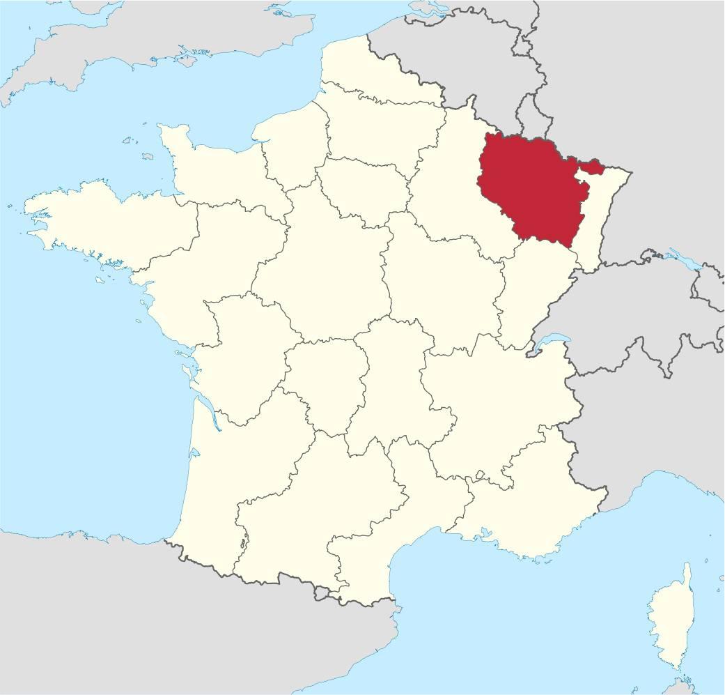 Carte de la Lorraine - Plusieurs cartes de la région se trouvant dans l'Est