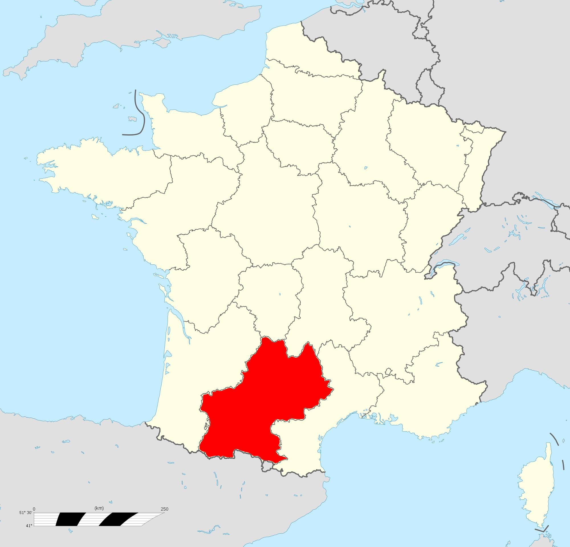 Où se trouve la région Midi-Pyrénées ?