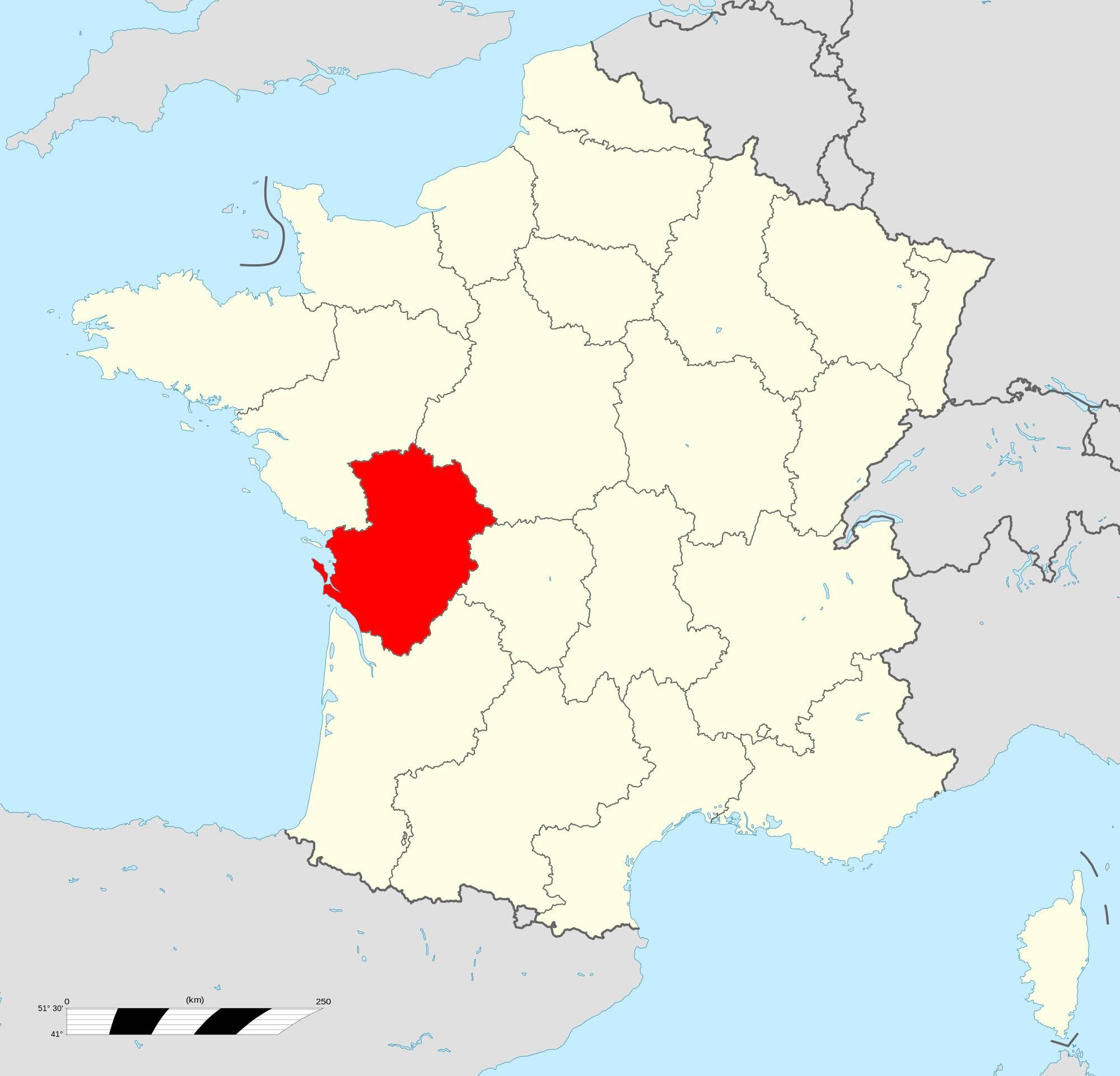 Où se trouve la région Poitou-Charentes