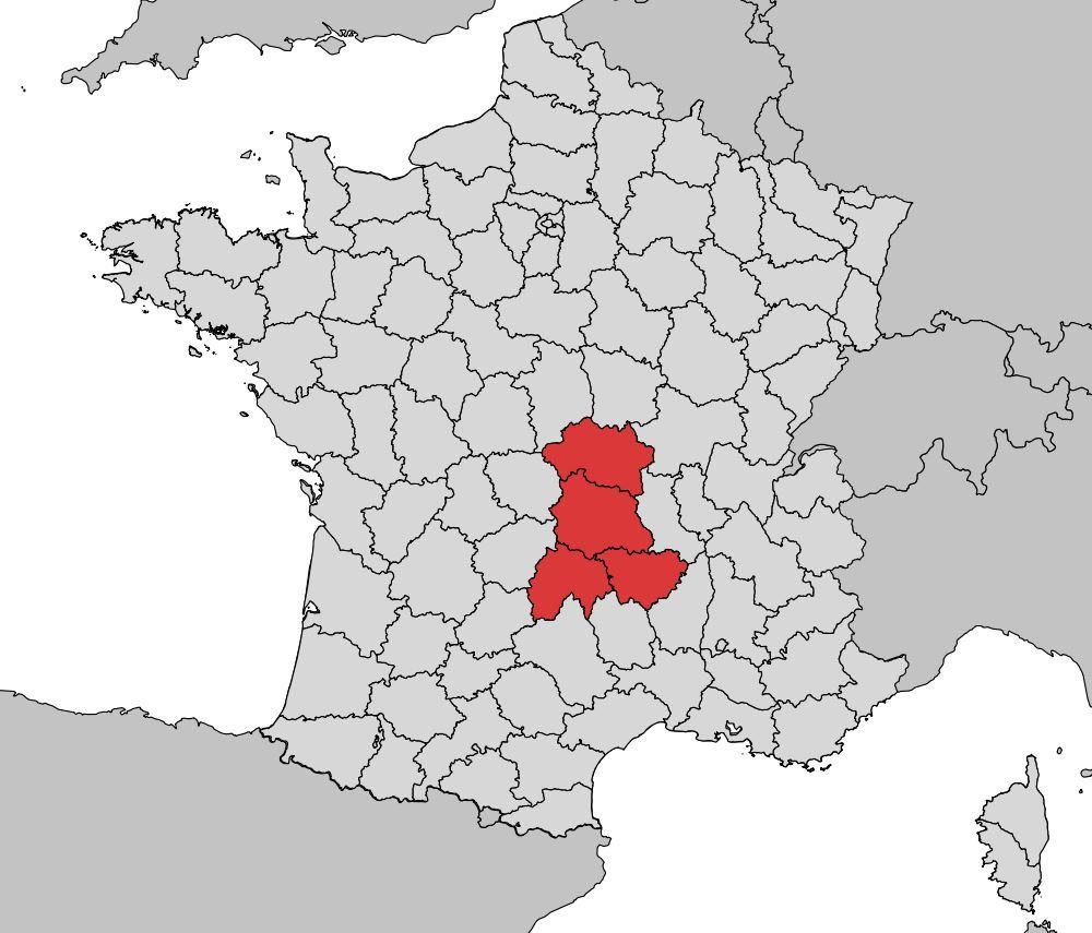 carte de france auvergne Carte de l'Auvergne   Plusieurs cartes de la région du centre de